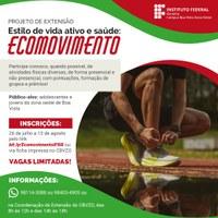 ECOMOVIMENTO - Abertas inscrições para projeto de extensão no Campus Boa Vista Zona Oeste