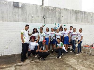 Estudantes do 9º ano da Escola Estadual Militar Elza Breves de Carvalho