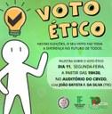 Voto ético é tema de debate entre estudantes do CBVZO