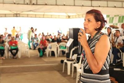 Reitora Sandra Mara Botelho fala sobre a dedicação de servidores e alunos da instituição na realização de eventos como o Forint