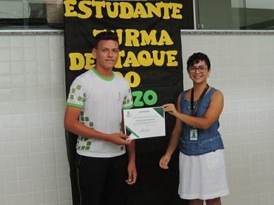 Rodrigo Castro, aluno destaque do Curso Técnico em Serviços Públicos