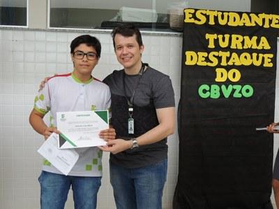 Vinicíus Cruz, aluno destaque do Curso Técnico em Comércio