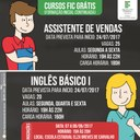 CBVZO oferece vagas para cursos de Vendas e Inglês