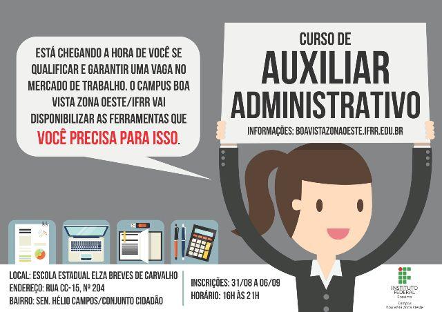 EDITAL DO CURSO DE AUXILIAR ADMINISTRATIVO