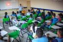 Projetos de extensão - Alunos da Escola Estadual Elza Breves participam de palestras sobre prevenção à doenças