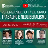 Roda de conversa virtual do IFRR vai falar sobre trabalho e neoliberalismo