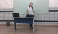 TÉCNICO EM SERVIÇOS PÚBLICOS - Primeira aluna de curso subsequente do  CBVZO defende projeto de intervenção