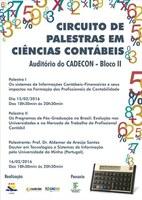 I Circuito de Palestras em Ciências Contábeis começa nesta segunda-feira
