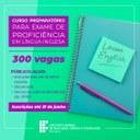 IFRR oferta 300 vagas em curso preparatório para exame de proficiência em inglês