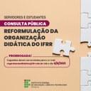 Prorrogado prazo para envio de contribuições para a nova Organização Didática do IFRR