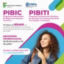PIBIC/PIBIT – Prorrogado prazo para submissão de propostas