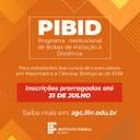 PIBID – Período de inscrições em edital de iniciação à docência termina nesta sexta-feira, 31