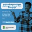Solicitação de certificado digital agora deve ser feita pelo Sigepe